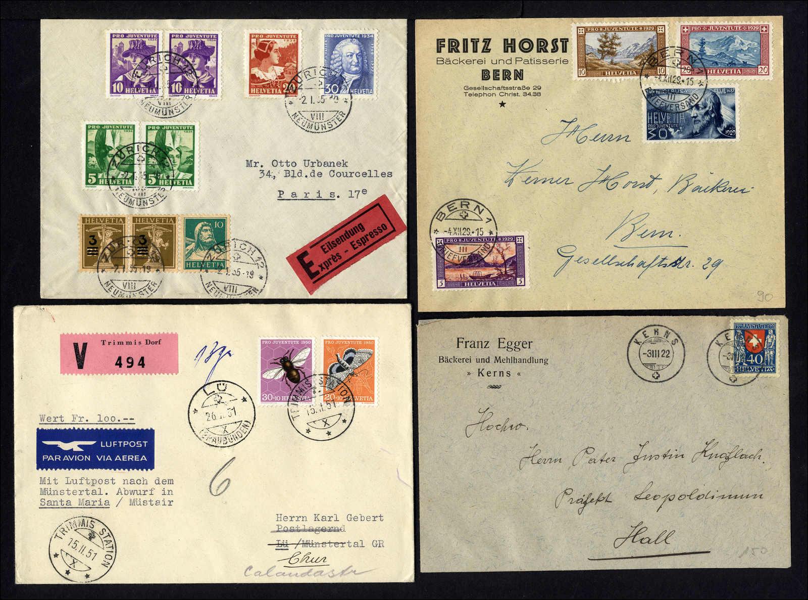 Lot 193 - schweiz schweiz pro juventute -  Rolli Auctions Auction #68 Day 1