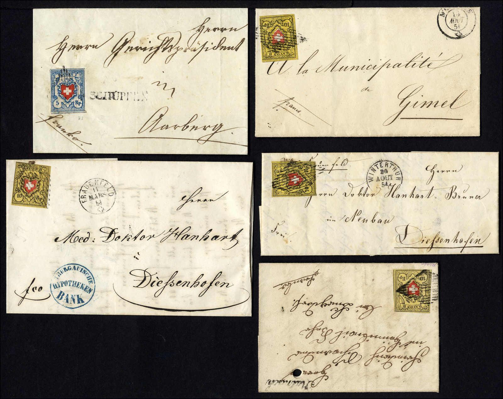 Lot 66 - sammlungen und posten sammlungen und posten altschweiz -  Rolli Auctions Auction #68 Day 1