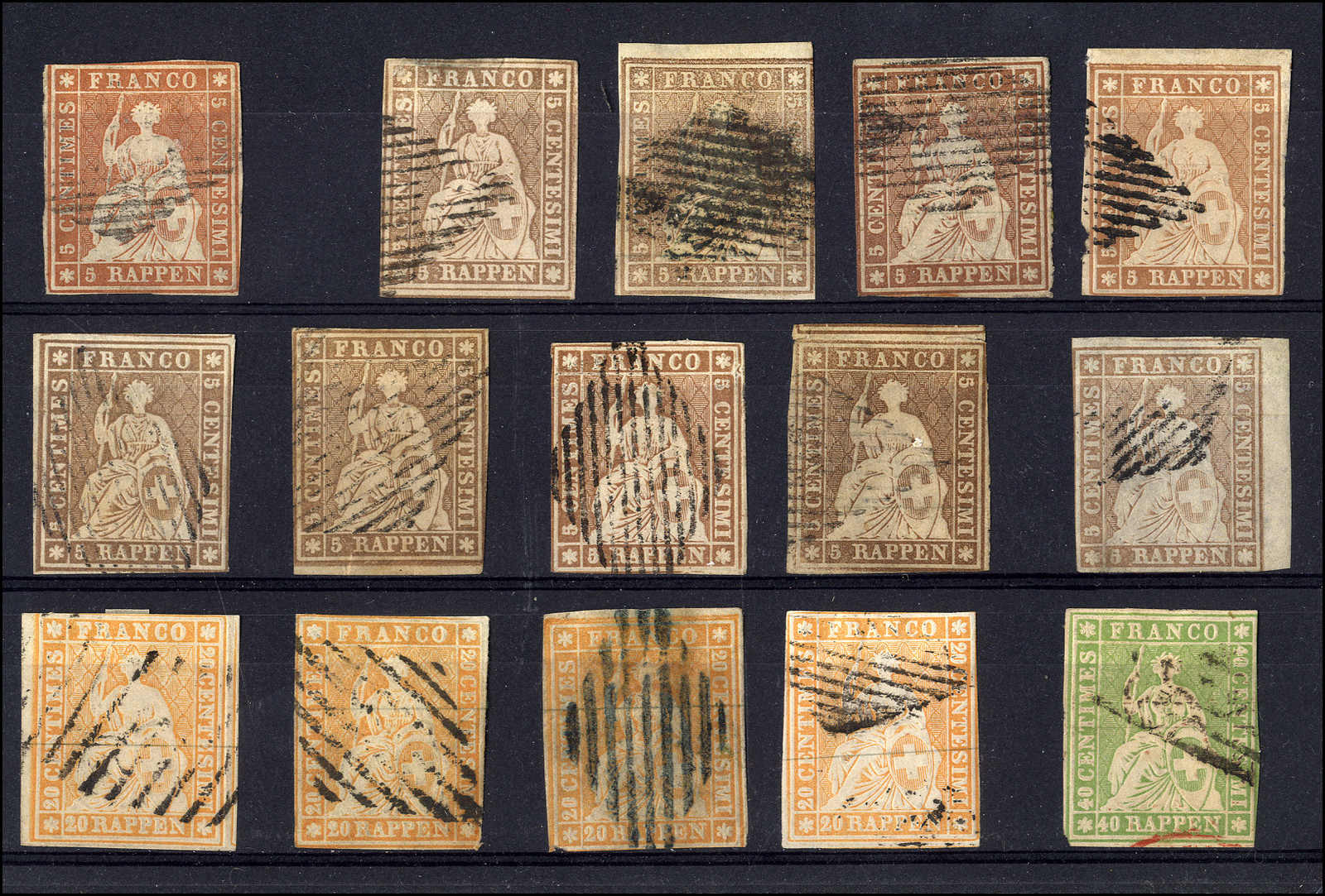 Lot 50 - sammlungen und posten sammlungen und posten altschweiz -  Rolli Auctions Auction #68 Day 1