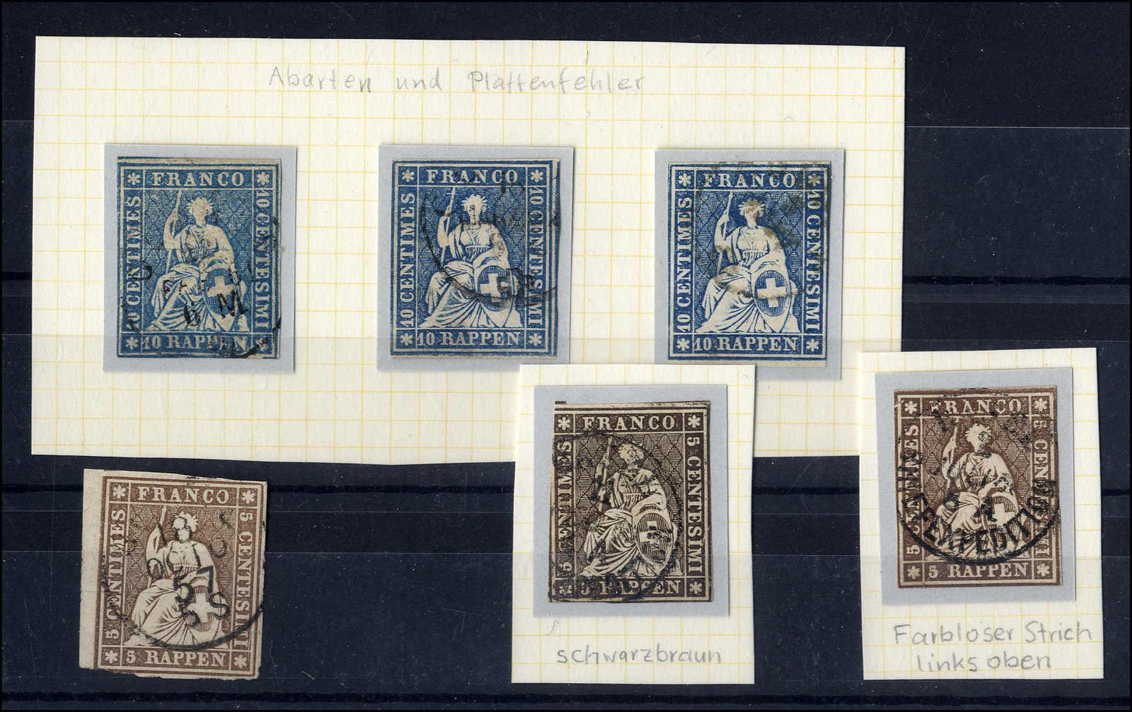 Lot 52 - sammlungen und posten sammlungen und posten altschweiz -  Rolli Auctions Auction #68 Day 1