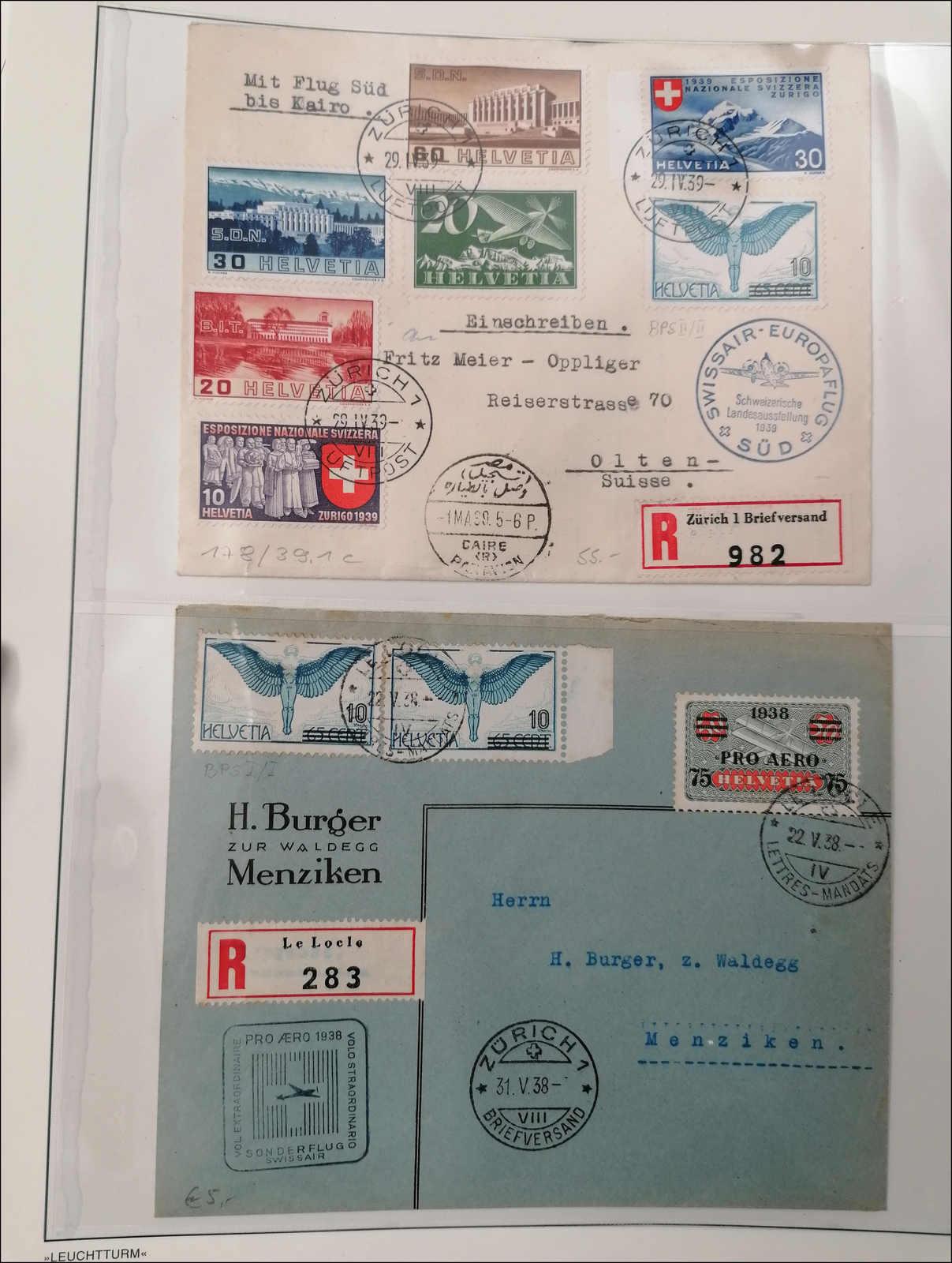 Lot 172 - schweiz schweiz flugpostmarken -  Rolli Auctions Auction #68 Day 1