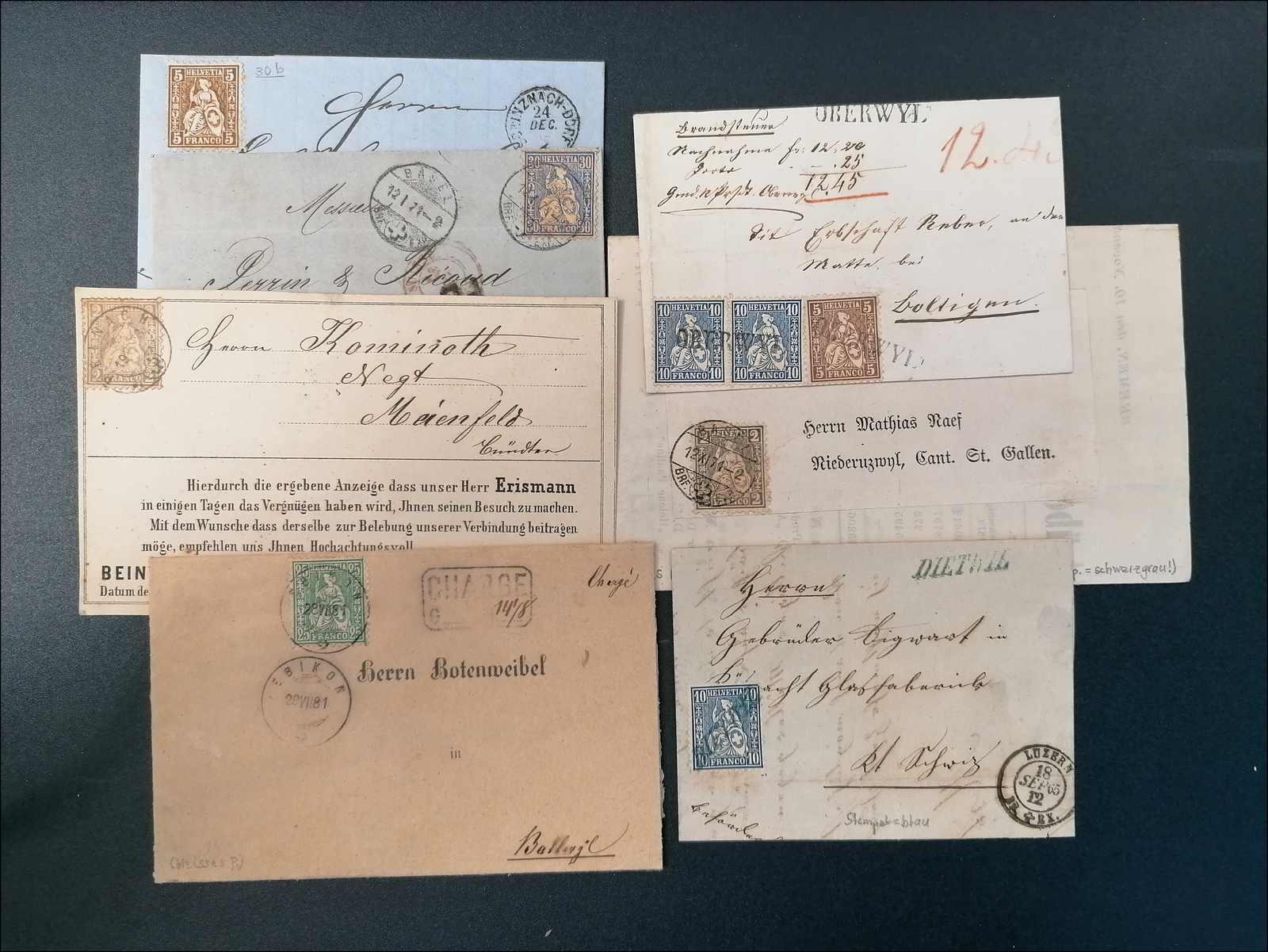 Lot 103 - schweiz Schweiz Sitzende Helvetia gezähnt -  Rolli Auctions Auction #68 Day 1