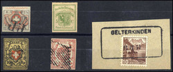 7240: Collections and Lots Switzerland early issues - Bulk lot