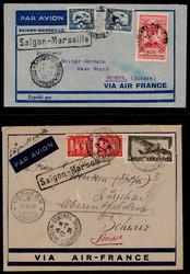 2705: Französisch Indochina Allgemeine Ausgaben - Briefe Posten