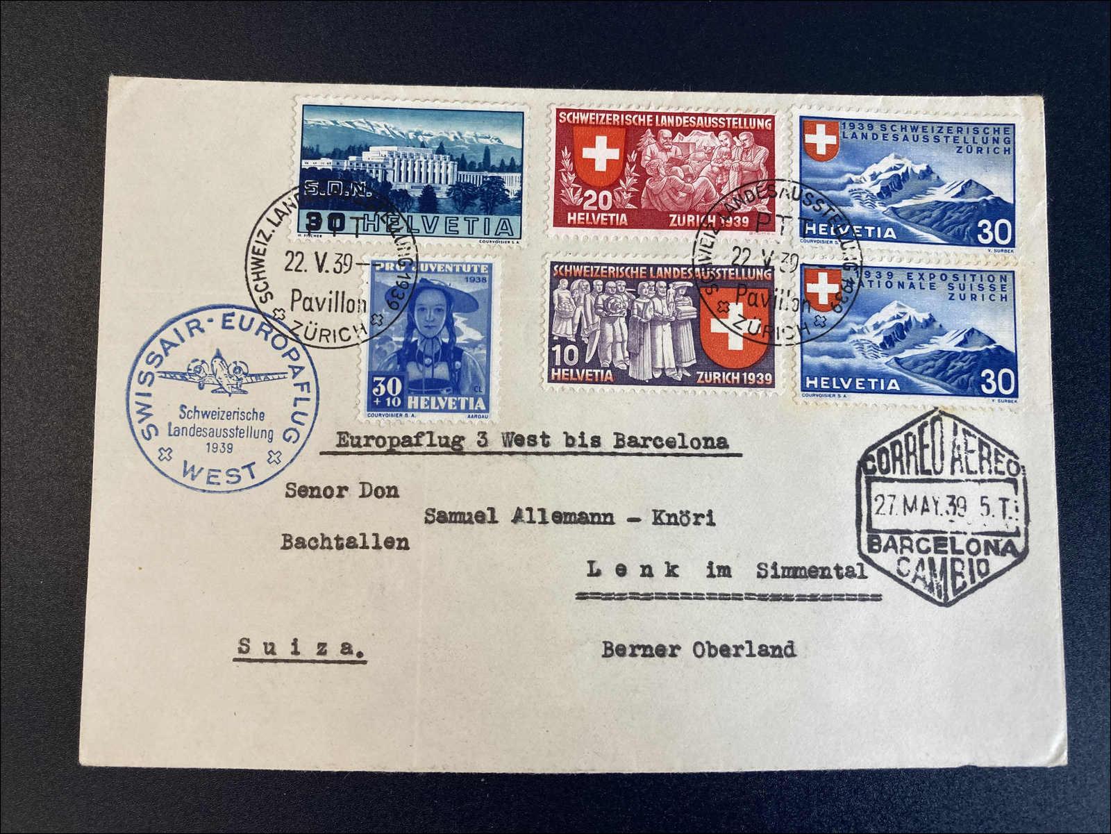 Lot 189 - deutschland Schweiz - Sonderflüge (SF) -  Rolli Auctions Auction #68 Day 1