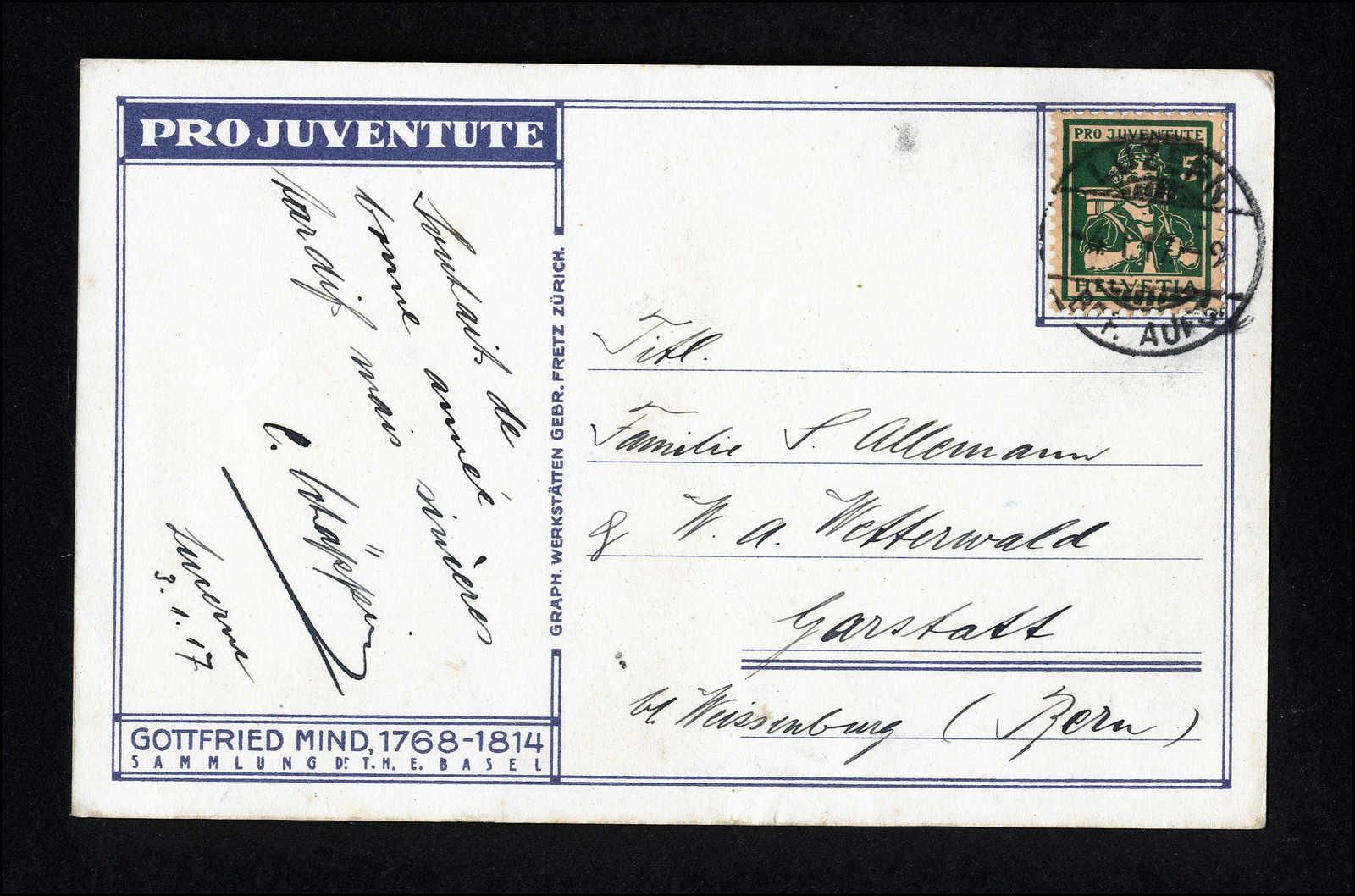 Lot 202 - schweiz schweiz pro juventute -  Rolli Auctions Auction #68 Day 1
