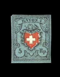 54.300: Rayons I, dunkelblau mit Kreuzeinfassung