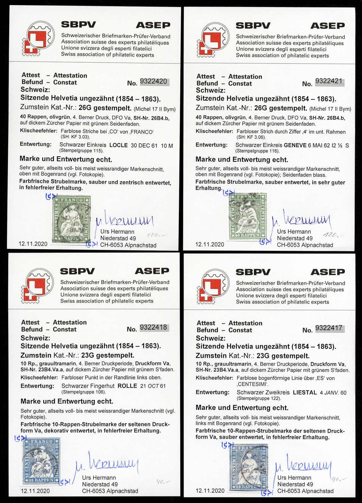 Lot 63 - sammlungen und posten sammlungen und posten altschweiz -  Rolli Auctions Auction #68 Day 1