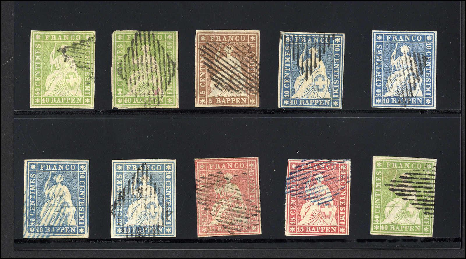 Lot 41 - sammlungen und posten sammlungen und posten altschweiz -  Rolli Auctions Auction #68 Day 1