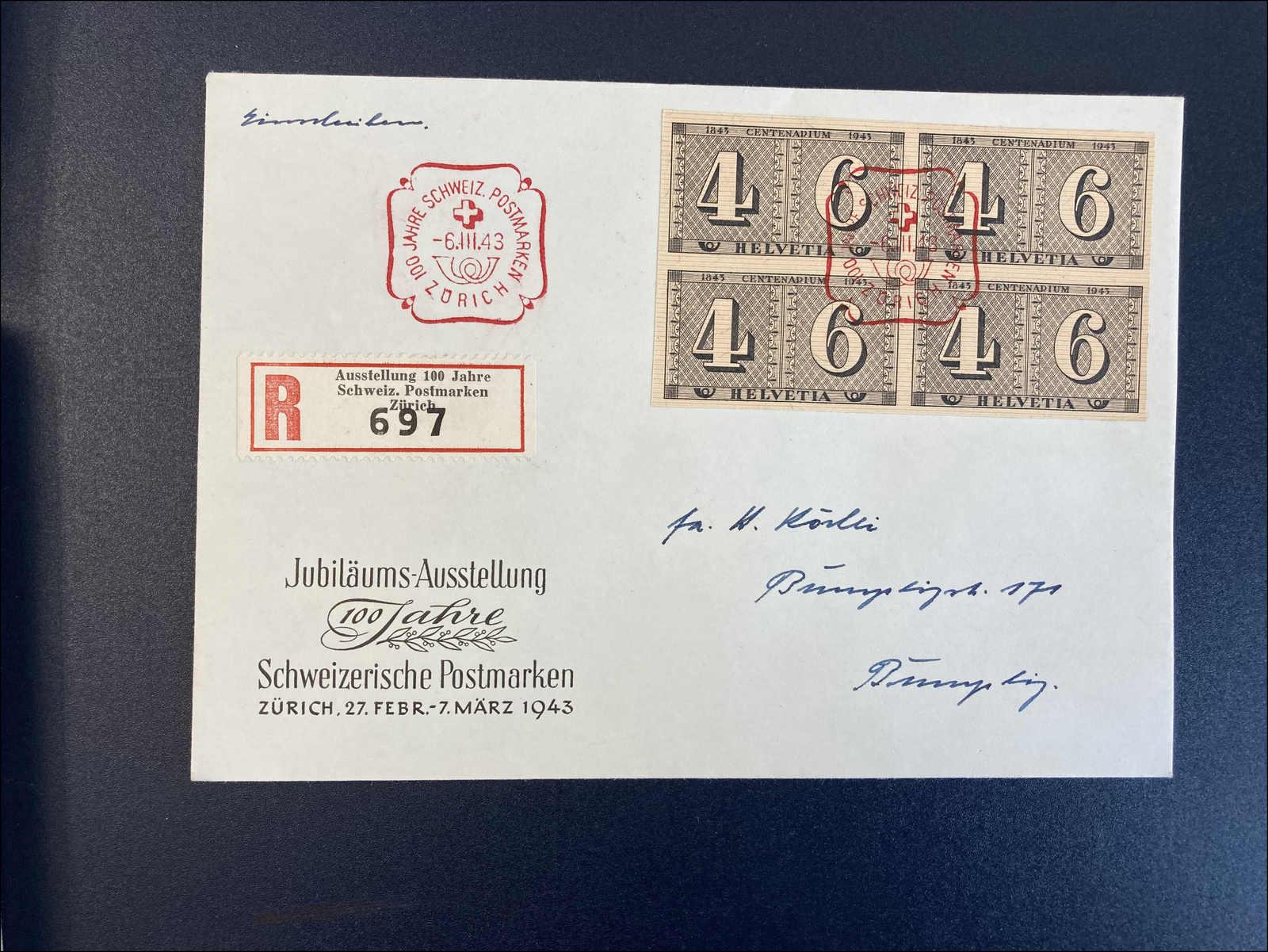 Lot 216 - schweiz Schweiz Blöcke -  Rolli Auctions Auction #68 Day 1