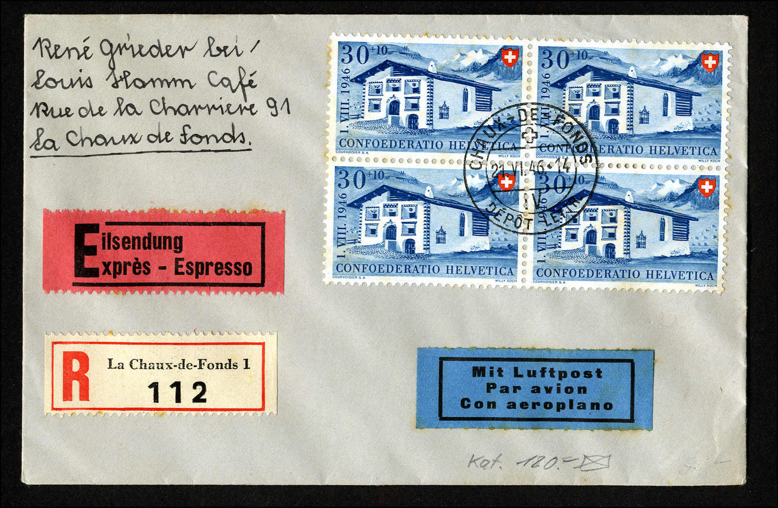 Lot 208 - schweiz schweiz pro patria -  Rolli Auctions Auction #68 Day 1