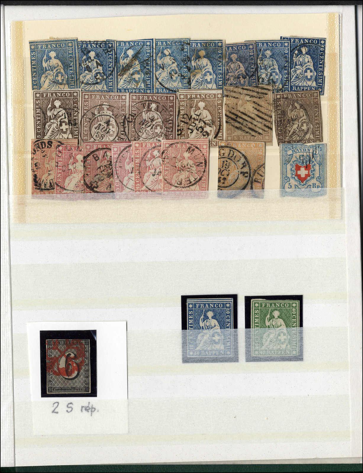 Lot 8 - sammlungen und posten sammlungen und posten altschweiz -  Rolli Auctions Auction #68 Day 1