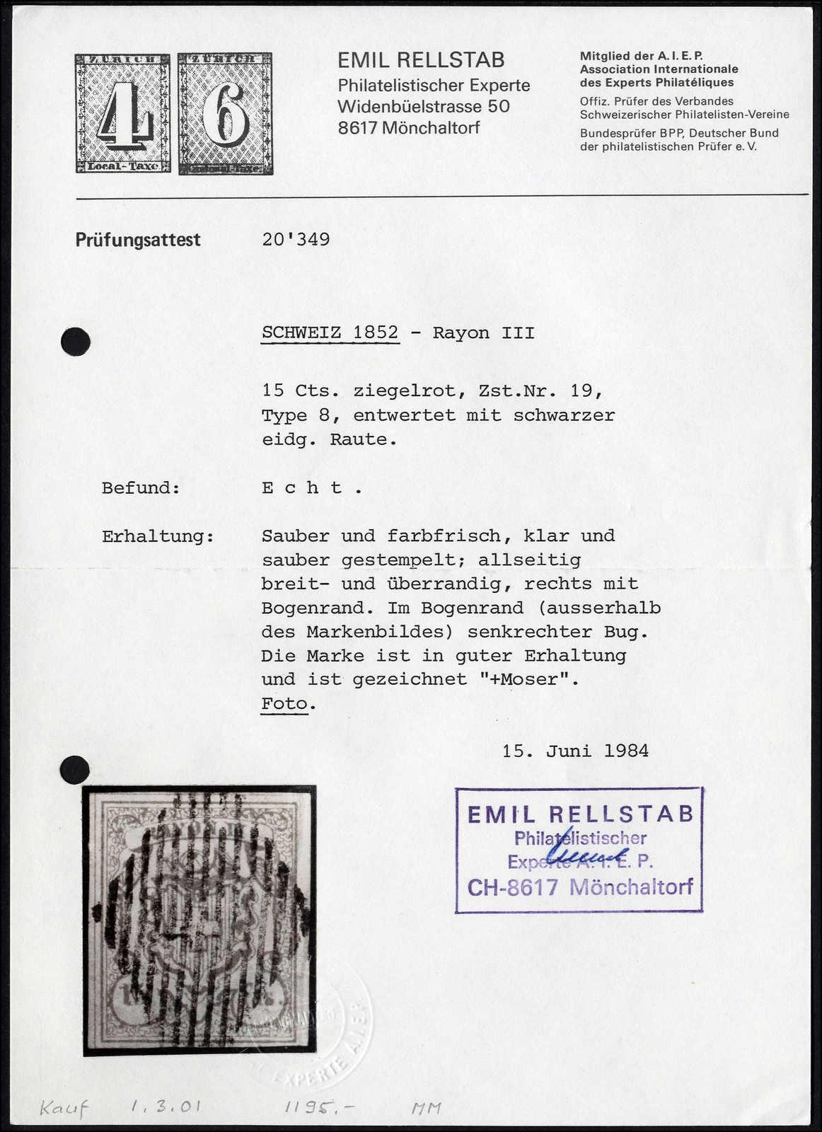 Lot 39 - sammlungen und posten sammlungen und posten altschweiz -  Rolli Auctions Auction #68 Day 1
