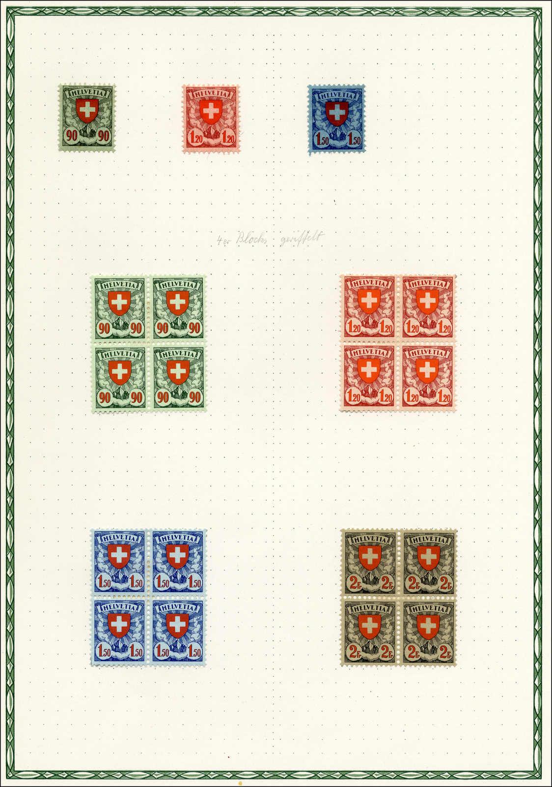 Lot 148 - schweiz Schweiz Freimarken nach 1907 -  Rolli Auctions Auction #68 Day 1