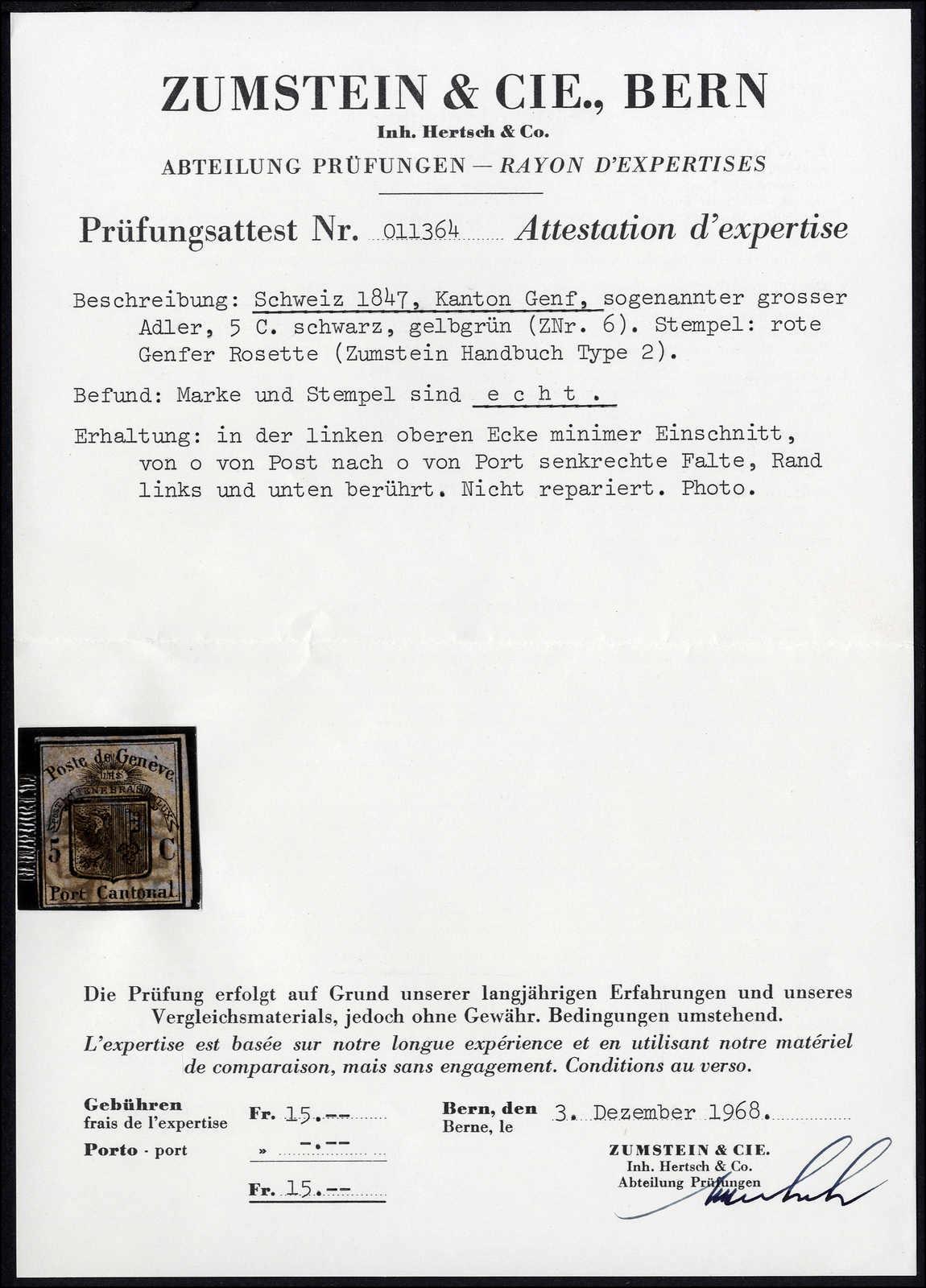 Lot 1005 - schweiz schweiz kantone genf -  Rolli Auctions Auction #68 Day 2