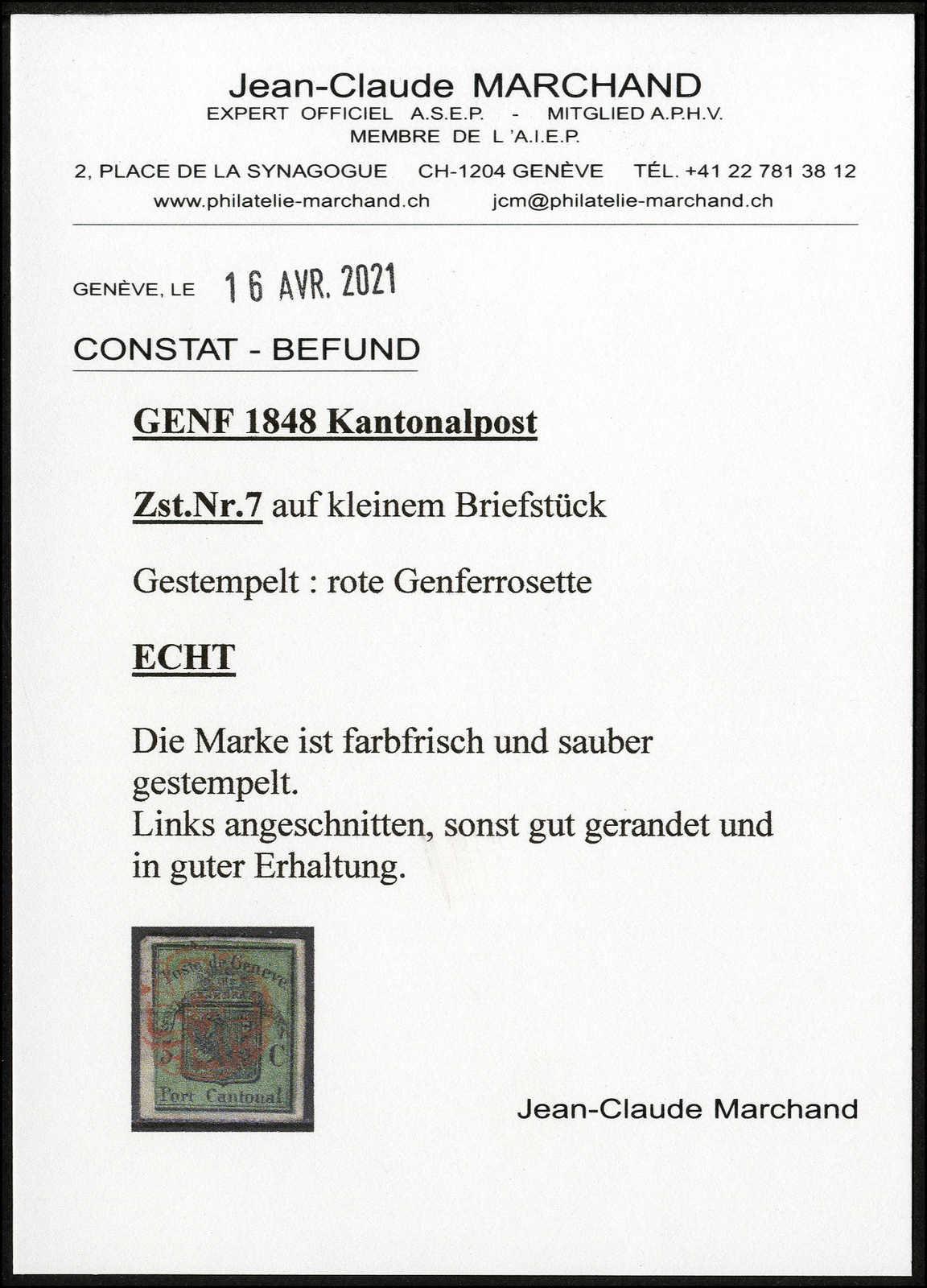 Lot 1010 - schweiz schweiz kantone genf -  Rolli Auctions Auction #68 Day 2