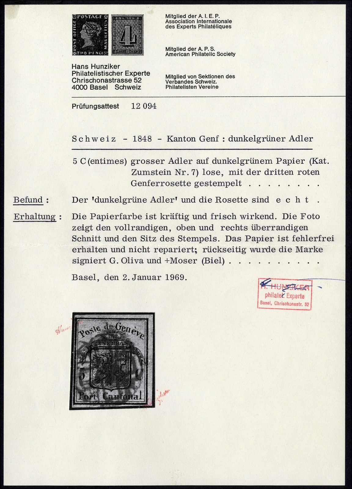 Lot 1012 - schweiz schweiz kantone genf -  Rolli Auctions Auction #68 Day 2
