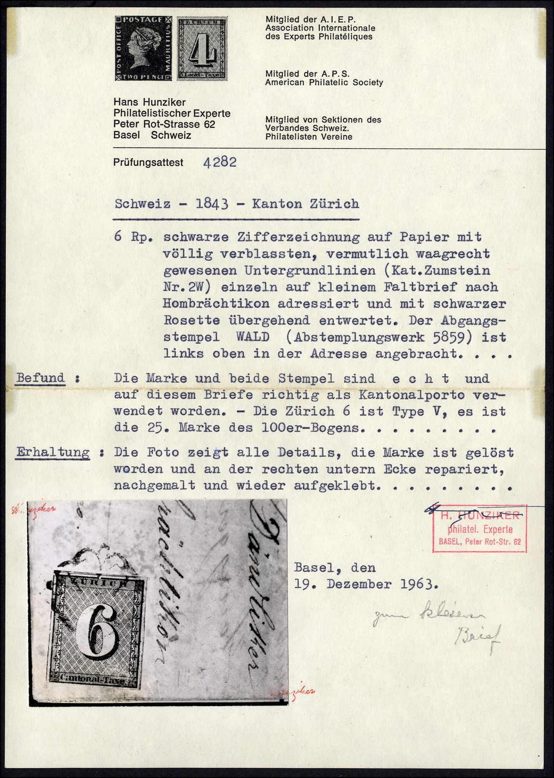 Lot 1001 - schweiz schweiz kantone zürich -  Rolli Auctions Auction #68 Day 2