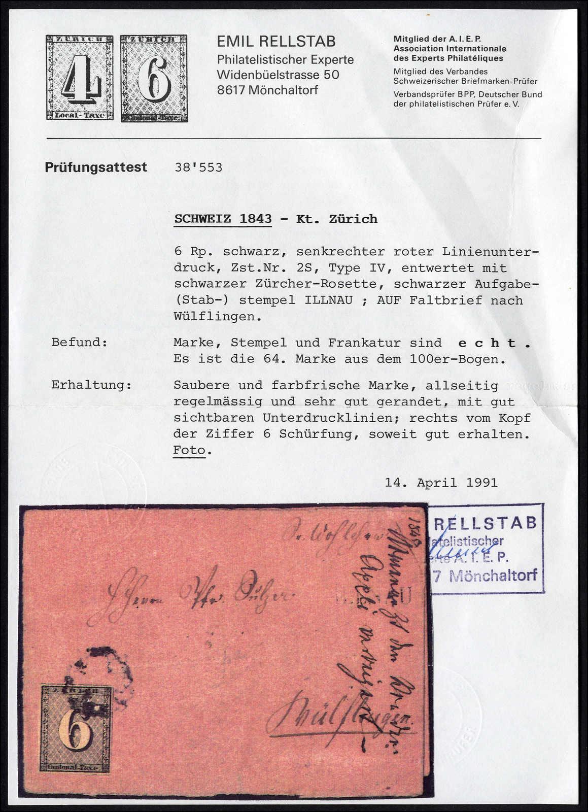 Lot 996 - schweiz schweiz kantone zürich -  Rolli Auctions Auction #68 Day 2