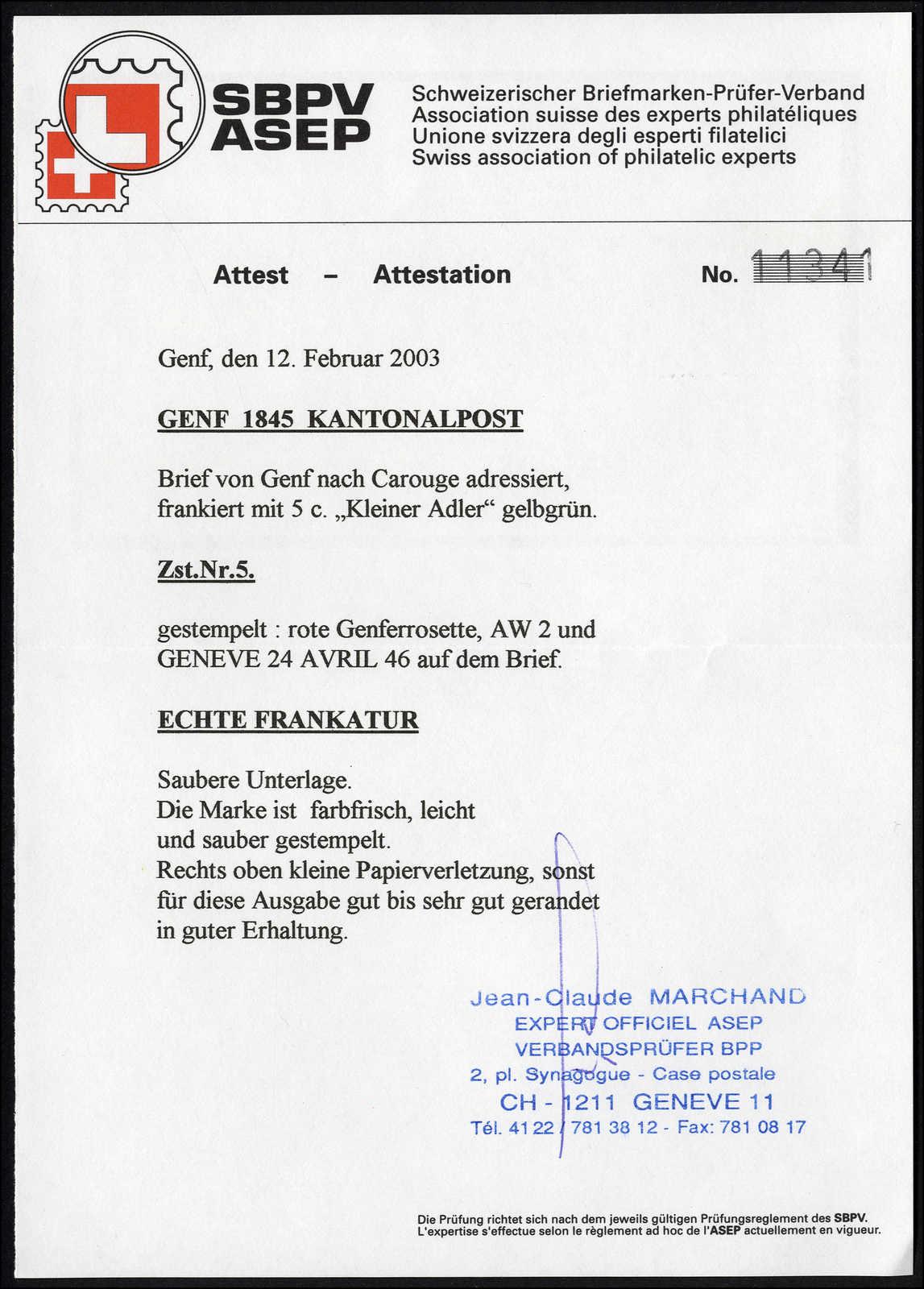 Lot 1004 - schweiz schweiz kantone genf -  Rolli Auctions Auction #68 Day 2