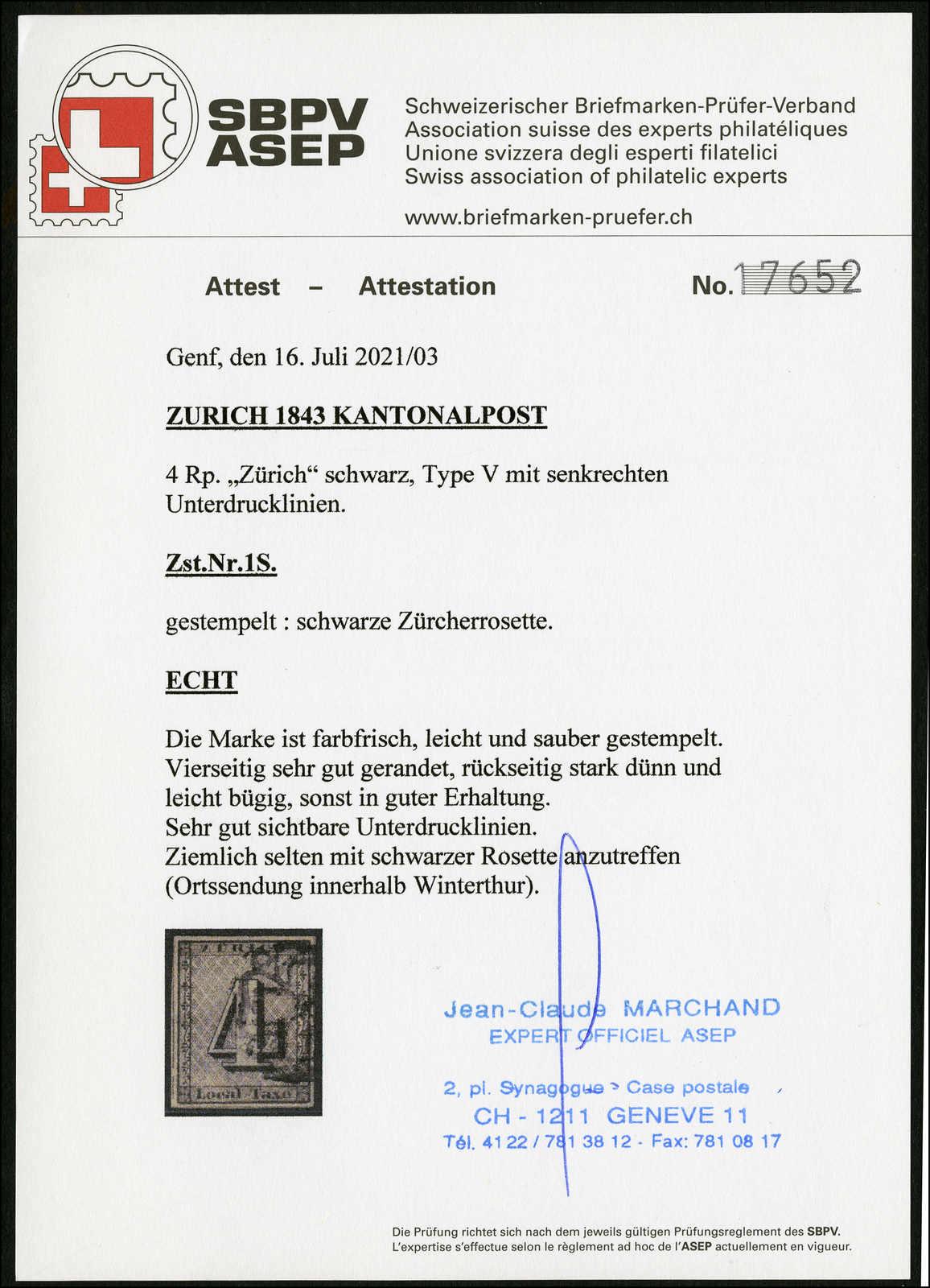 Lot 990 - schweiz schweiz kantone zürich -  Rolli Auctions Auction #68 Day 2