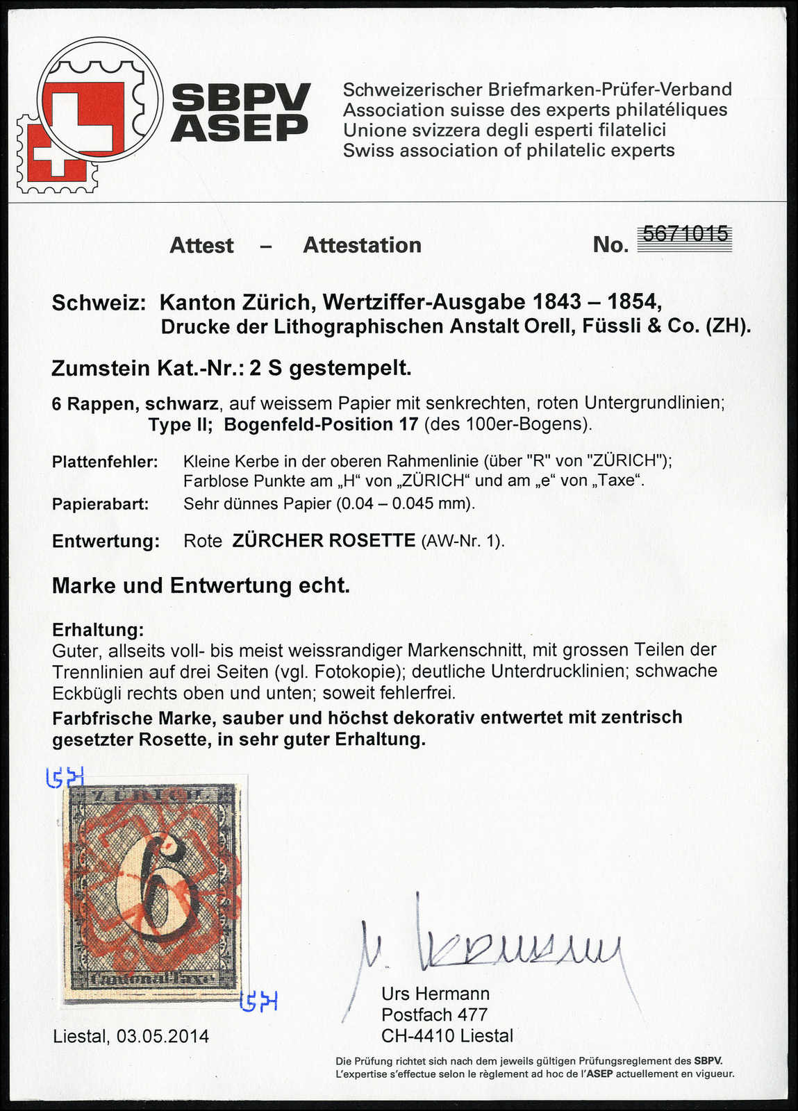 Lot 992 - schweiz schweiz kantone zürich -  Rolli Auctions Auction #68 Day 2