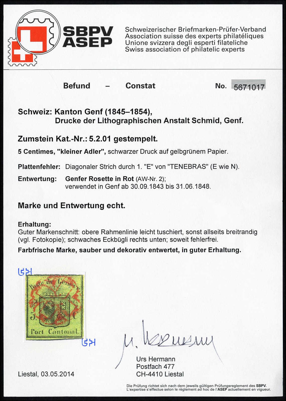 Lot 1002 - schweiz schweiz kantone genf -  Rolli Auctions Auction #68 Day 2
