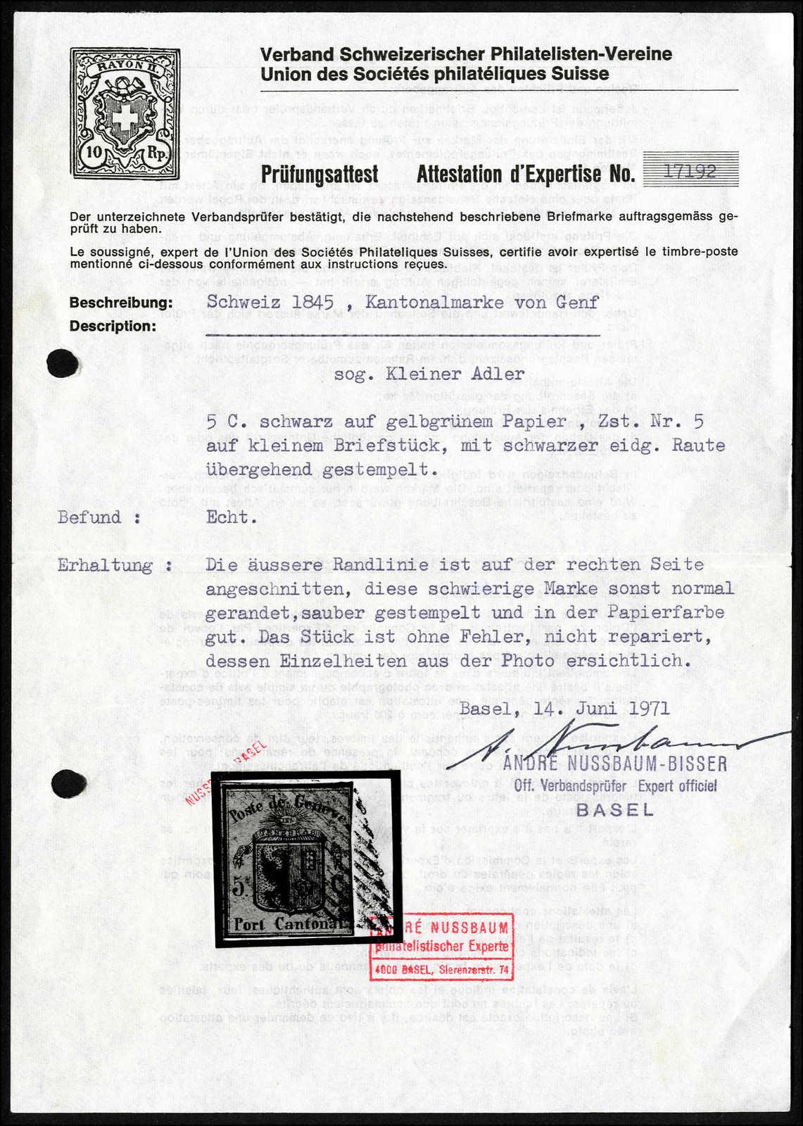 Lot 1003 - schweiz schweiz kantone genf -  Rolli Auctions Auction #68 Day 2