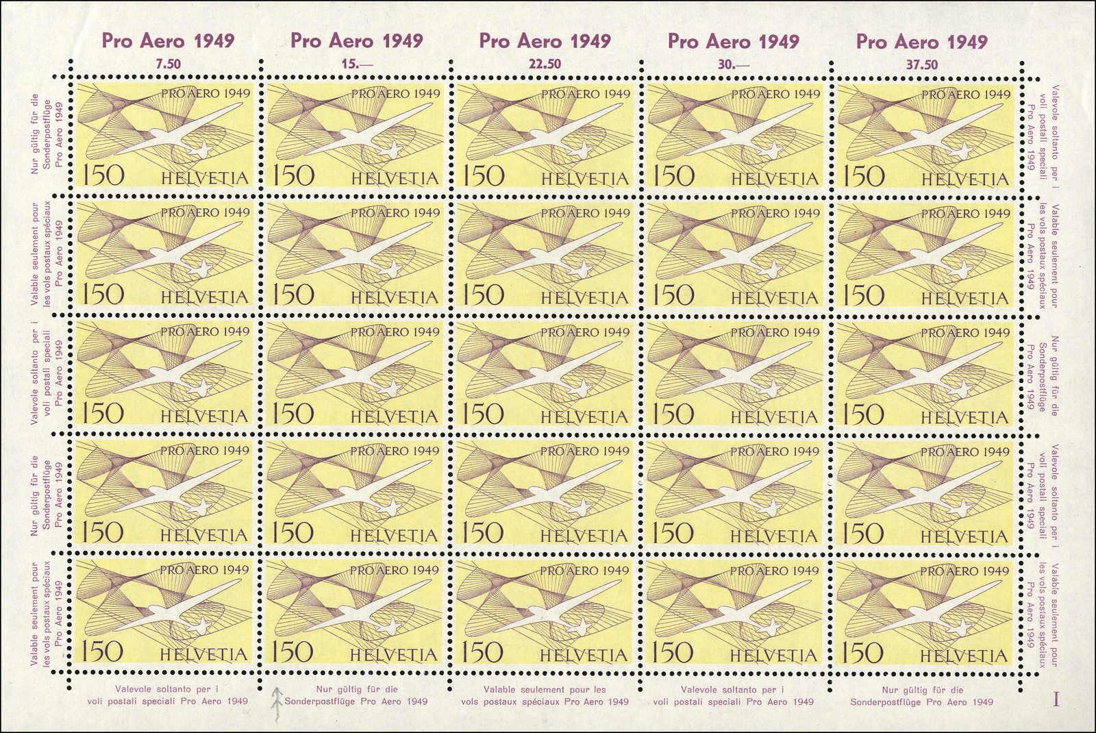 Lot 169 - schweiz schweiz flugpostmarken -  Rolli Auctions Auction #68 Day 1