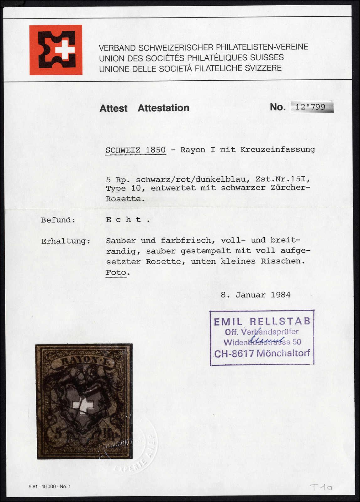Lot 10 - sammlungen und posten sammlungen und posten altschweiz -  Rolli Auctions Auction #68 Day 1