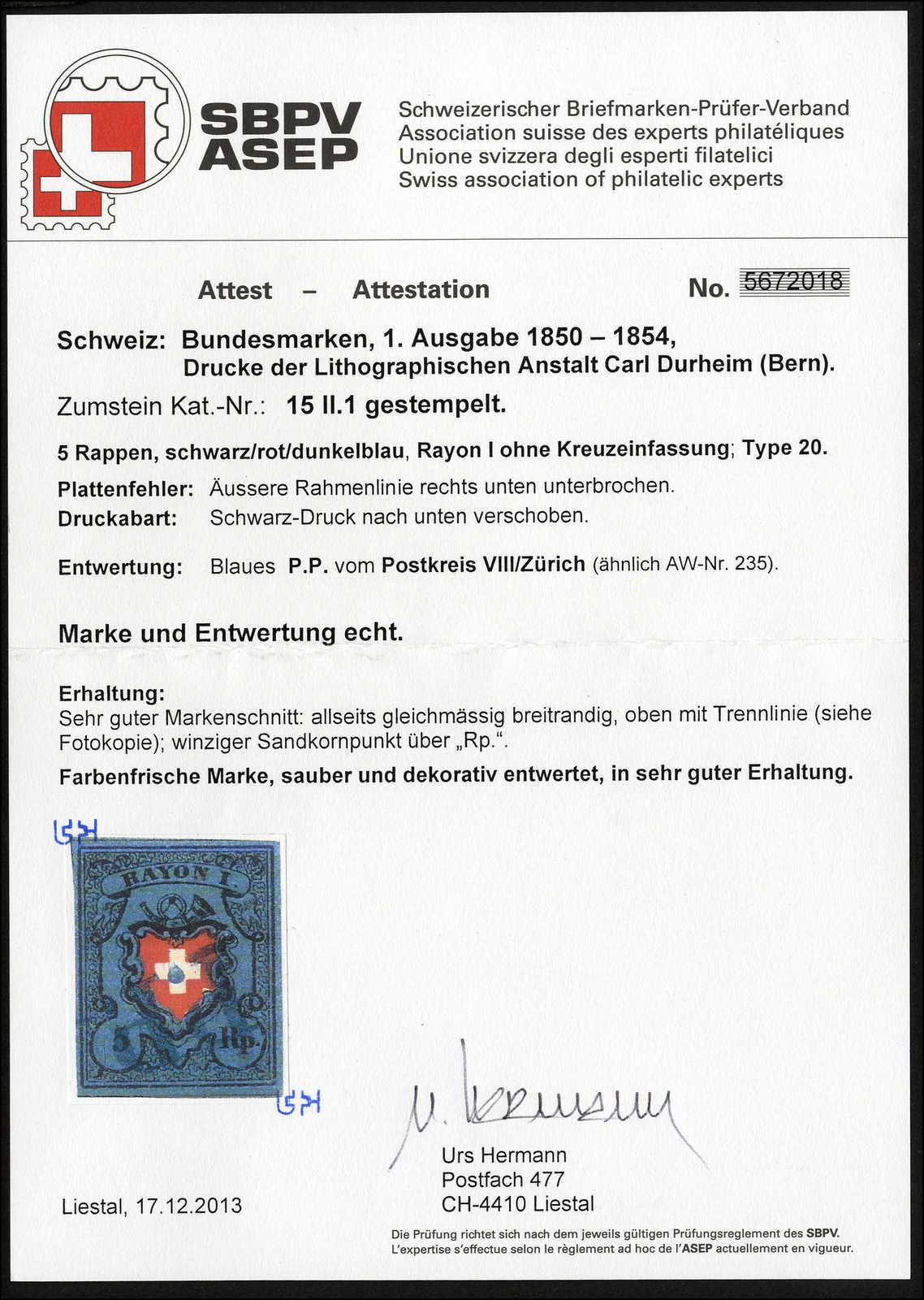 Lot 11 - sammlungen und posten sammlungen und posten altschweiz -  Rolli Auctions Auction #68 Day 1
