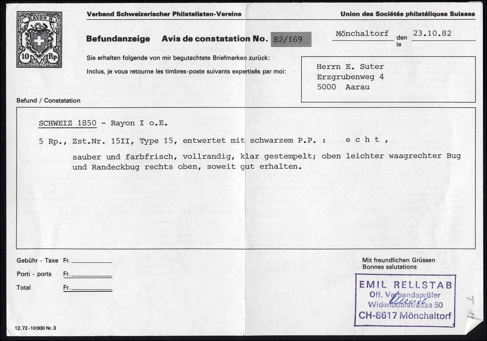 Lot 13 - sammlungen und posten sammlungen und posten altschweiz -  Rolli Auctions Auction #68 Day 1