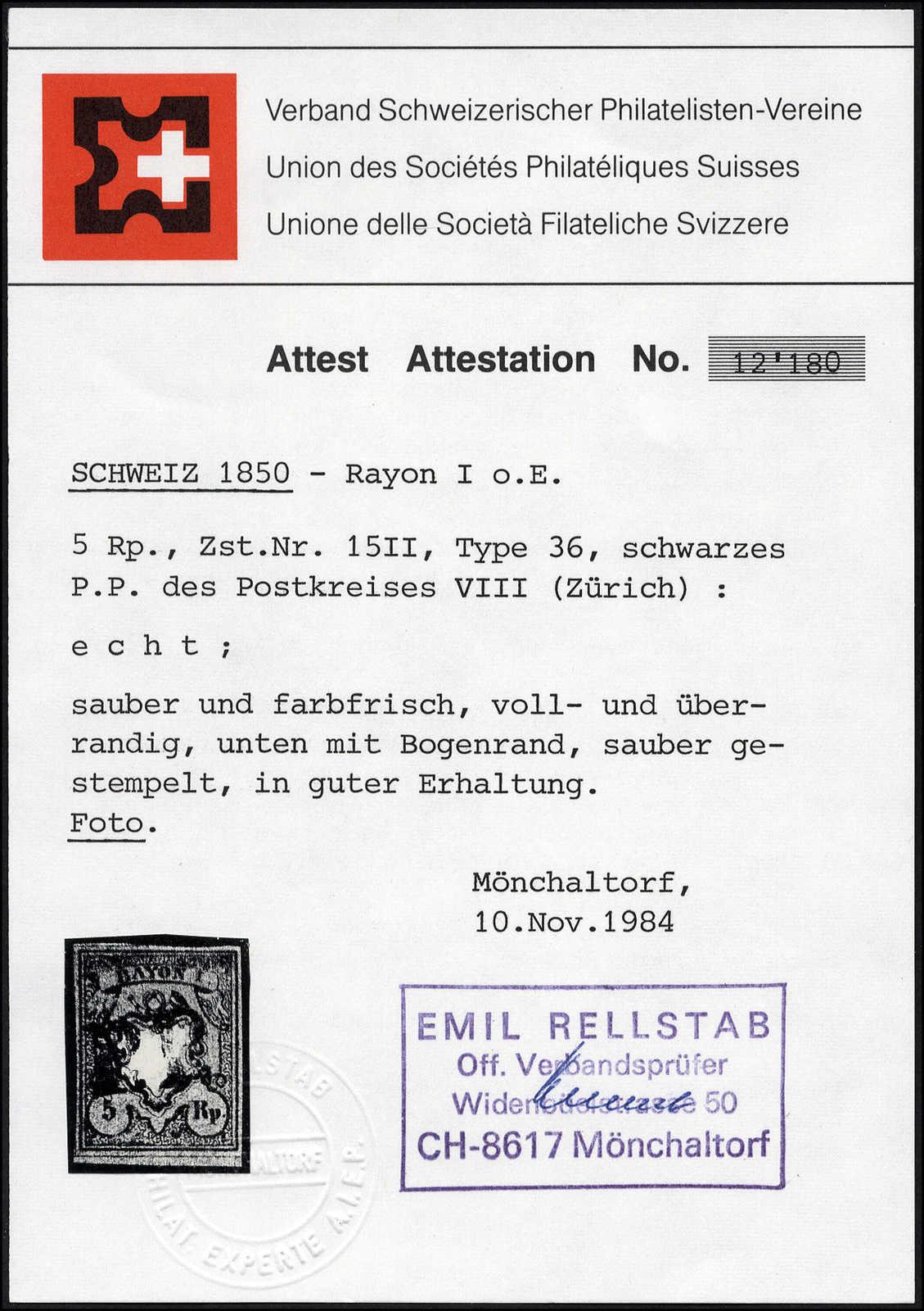 Lot 24 - sammlungen und posten sammlungen und posten altschweiz -  Rolli Auctions Auction #68 Day 1