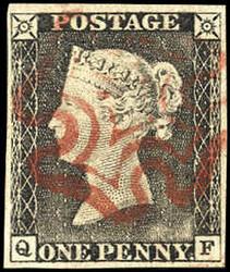 2865100: Grossbritannien 1840 1d schwarz - Briefe Posten