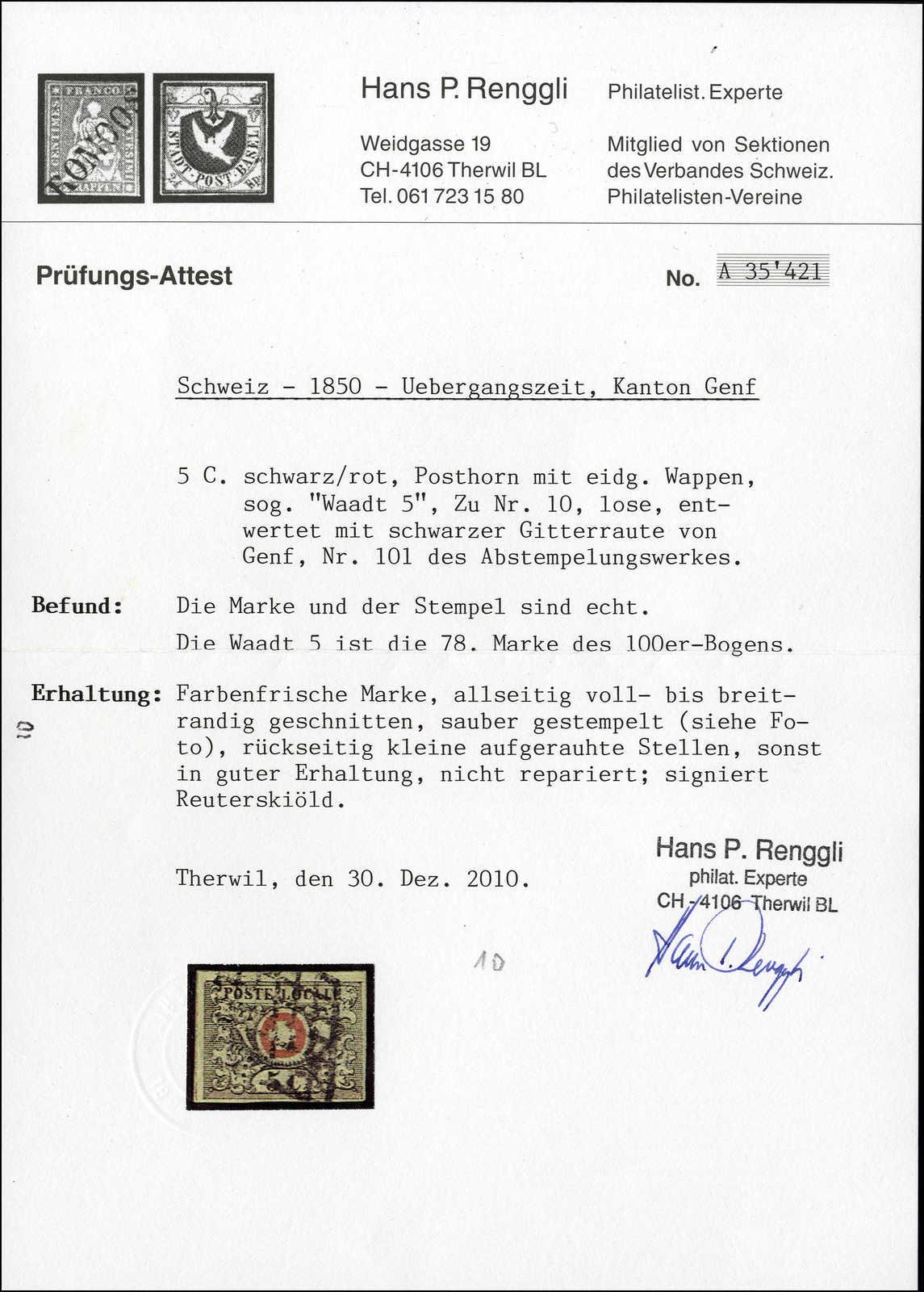 Lot 9 - sammlungen und posten sammlungen und posten altschweiz -  Rolli Auctions Auction #68 Day 1
