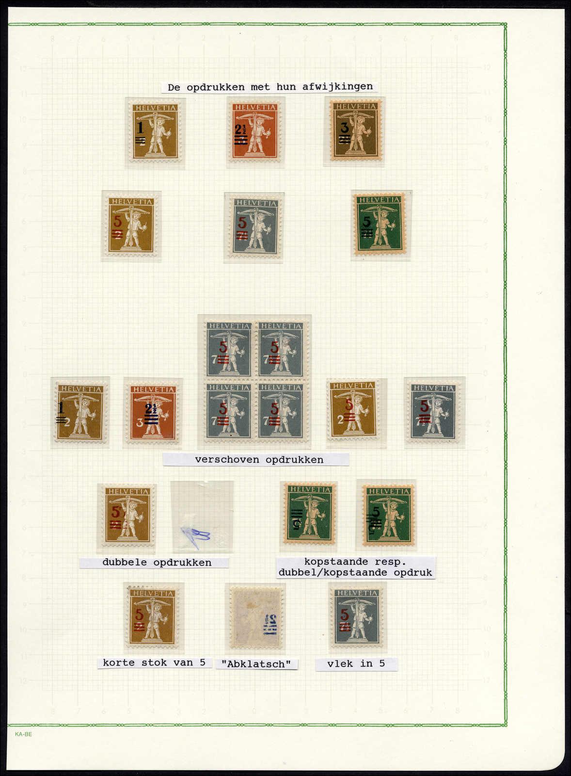 Lot 99 - schweiz Schweiz Abarten (Frei- und Werbemarken) -  Rolli Auctions Auction #68 Day 1