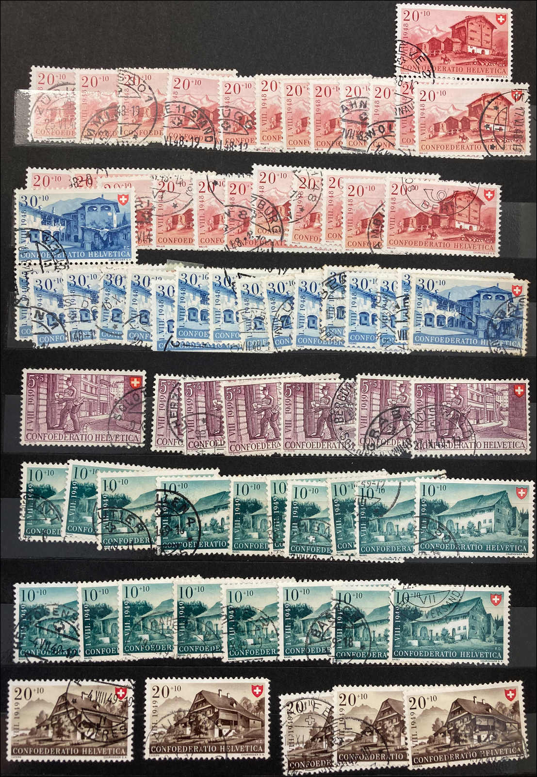 Lot 205 - schweiz schweiz pro patria -  Rolli Auctions Auction #68 Day 1