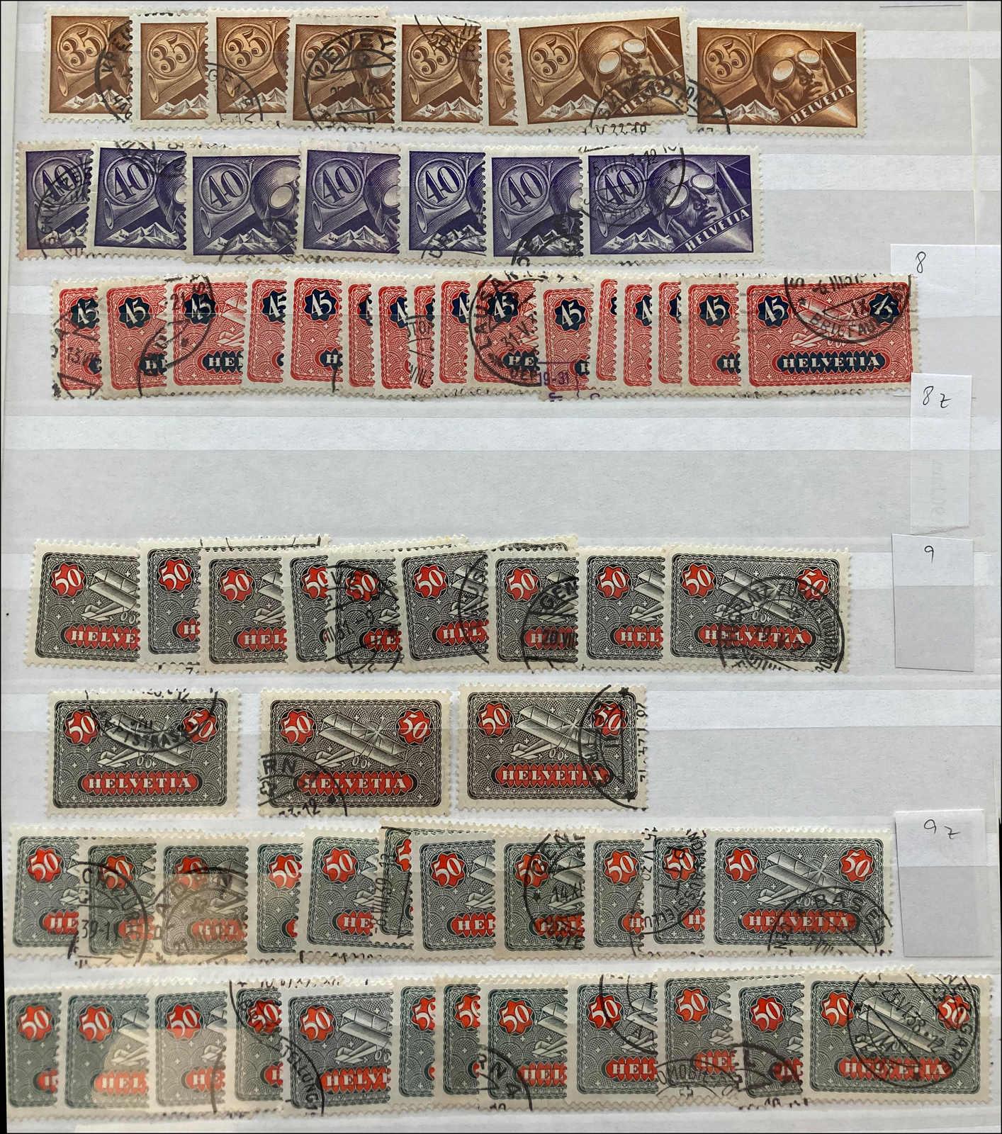 Lot 167 - schweiz schweiz flugpostmarken -  Rolli Auctions Auction #68 Day 1