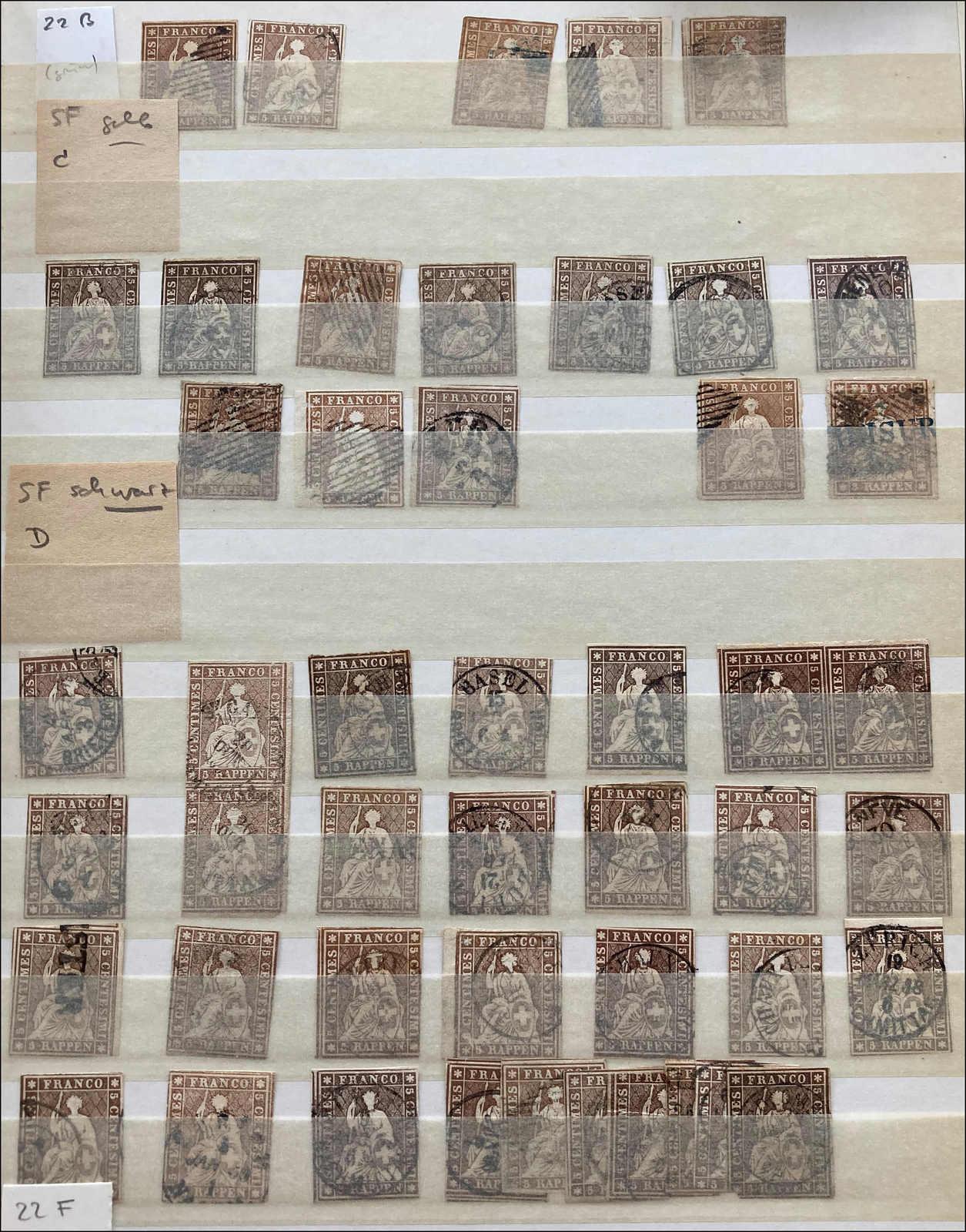 Lot 19 - sammlungen und posten sammlungen und posten altschweiz -  Rolli Auctions Auction #68 Day 1