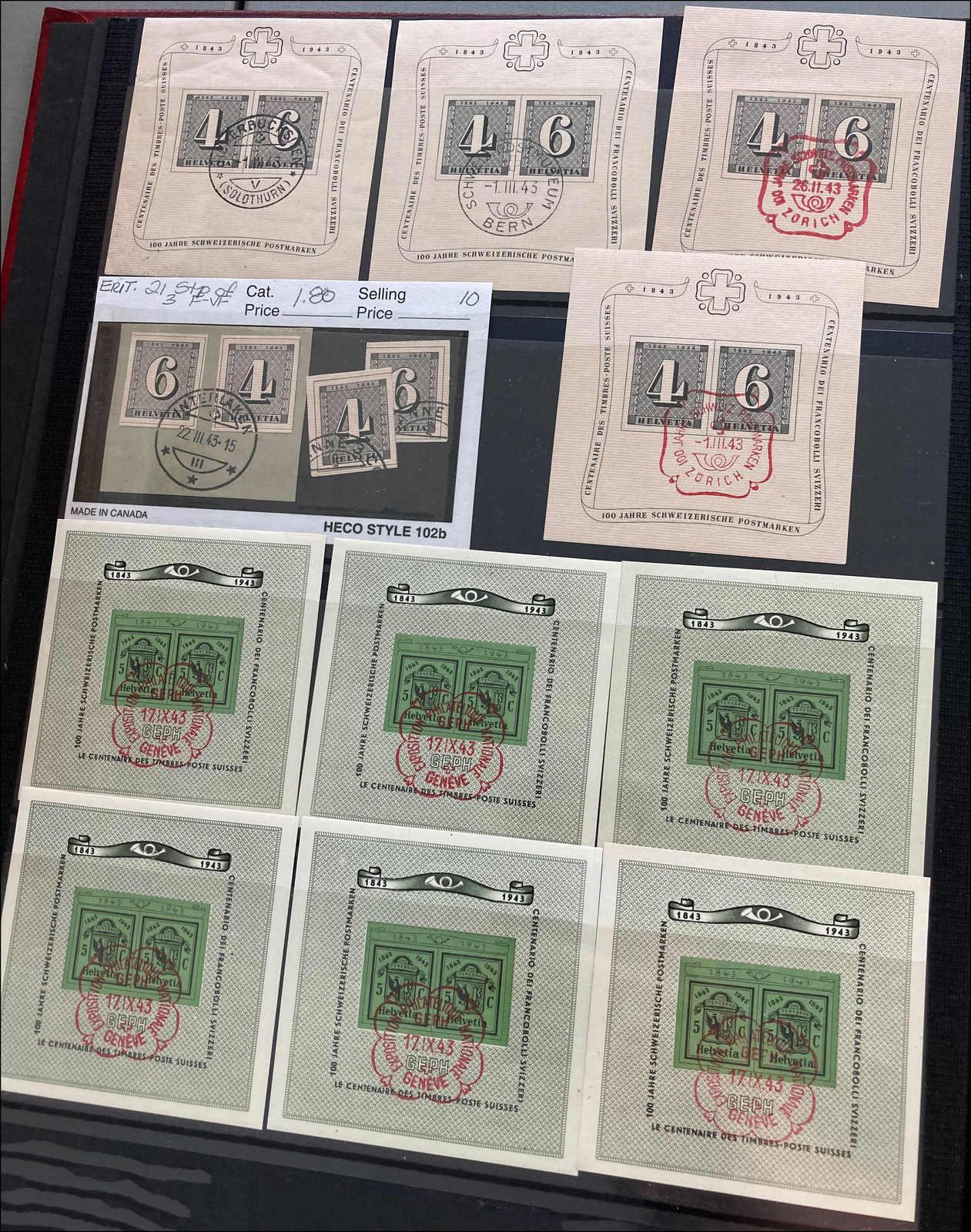 Lot 209 - schweiz Schweiz Blöcke -  Rolli Auctions Auction #68 Day 1