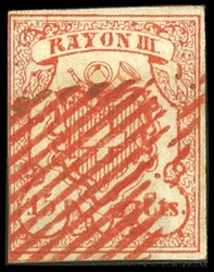 340.619: Rayons III, rot, Centimes