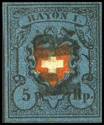 340.350: Rayons I, dunkelblau ohne Kreuzeinfassung