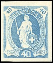 5655146: Schweiz Sitzende Helvetia gezähnt