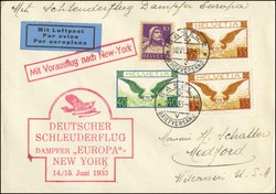 448085: Aviation, Airmail, Catapult Mail, North Atlantic Route