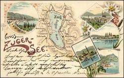190250: Suisse, Canton de Zoug - Picture postcards