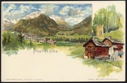 190100: Suisse, Canton des Grisons - Picture postcards