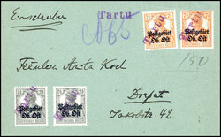 370: German Occupation World War I Postal Area Uppper East