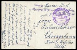 10258020: Deutsche Marine Schiffspost 1895-1939