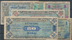 840300: Banknotes Allieed Military Board and Issues 1945-1948 - Emergency money