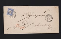 15: Old German States Bavaria - Cancellations and seals